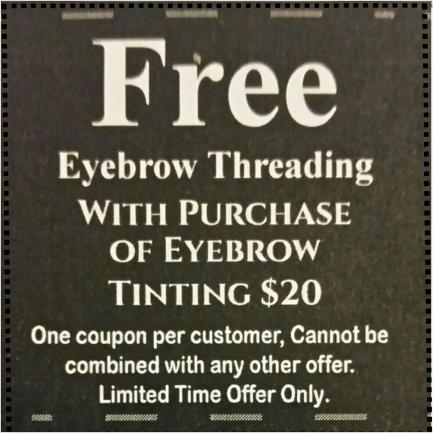 Coupon code for beautiful brows